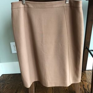 Perfect camel pencil skirt